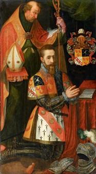 flügel eines altars mit dem stifter gerard van horne (1560-1612) (+ die auferstehung christi, verso) by anonymous-dutch (17)