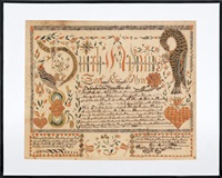 untitled (birth certificate for durck adams groff) by anthony rehm
