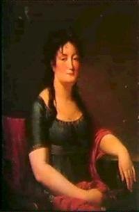 portrait de femme by antoine jean joseph ansiaux