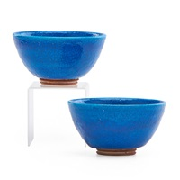 small bowls (2 works) by glen lukens