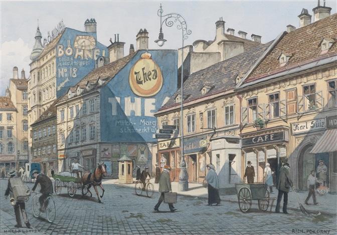 Straßenszene in Wien Margareten by Richard Pokorny on artnet