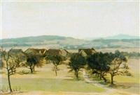 sommerliche landschaft by hans bührer