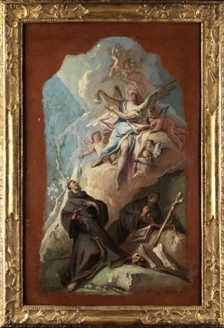 Der Heilige Franziskus In Vision Eines Engels Der Ihm Eine