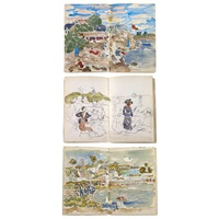 a sketchbook (bk w/130 works) by maurice brazil prendergast