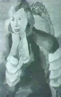 portrait einer jungen dame im sessel by annot (anna ottonie) jacobi