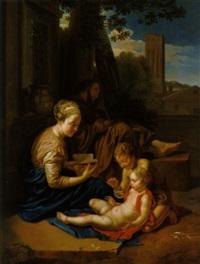 die heilige familie mit dem johannesknaben by joseph melling