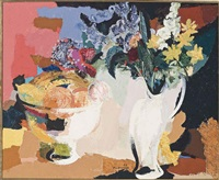 still life with fruit and flowers by douglas macdiarmid