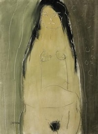 female nude by charles gassner