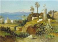 carthago mit blick auf das mittelmeer (nordafrika) by paul reiffenstein