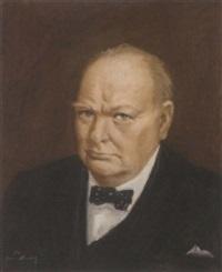 portrait of sir winston churchill by john spencer churchill