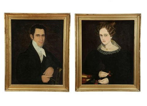 portrait (+ another; pair) by ammi phillips
