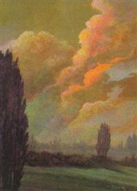 abendliche heidelandschaft by heinz dodenhoff