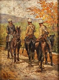 soldaten zu pferde by giovanni fattori