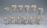 demitasse cups (12 works) by baltimore silversmiths and lenox