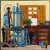 the artist's studio by edward sokol