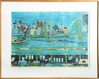 new york city view by ralph fasanella