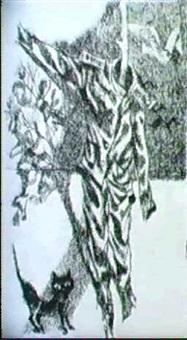 ausgediente uniform mit katze by manfredo acerbo
