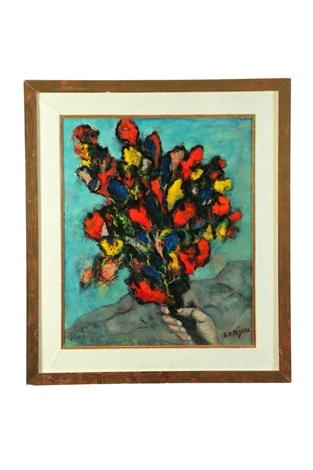 still life with flowers by bernard lorjou