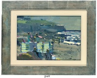 late evening light, sennen (+ painting at sennen; 2 works) by bo hilton