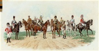 the 21st lancers with their predecessors the 21st hussars and the 21st light dragoons by richard simkin