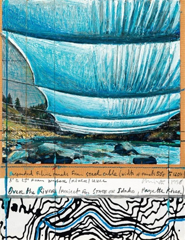 over the river project for state of idaho payette river by christo and jeanne claude