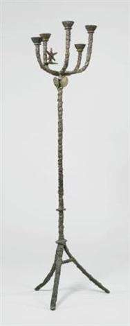 grande candélabre à létoile by diego giacometti
