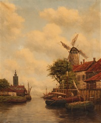 meerdervoort, holland by hermanus koekkoek the younger