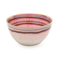 bowl with stripes by glen lukens