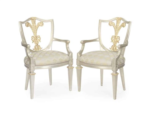 open armchairs set of 8 by william switzer