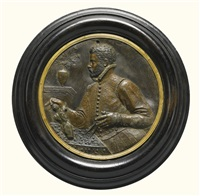 portrait roundel of the sculptor andrea foschi of faenza by alessandro ardenti