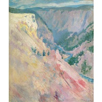 yellowstone park by john henry twachtman