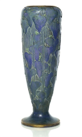 vase decorated with ivy leaves and berries by paul daschel
