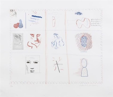 franco american mail by david hockney