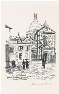 montmartre, place du têrtre et du sacre couer by maurice utrillo