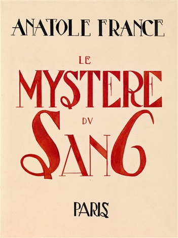 le mystère du sang bk by anatole france w4 works by alexandra exter