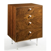thin-edge four-drawer chest (model no. 5202) by george l. nelsen
