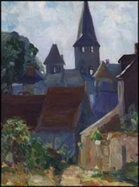 french town by frank milton armington