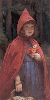 little red riding hood by edward frederick brewtnall