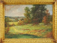 early fall landscape by arlington nelson lindenmuth