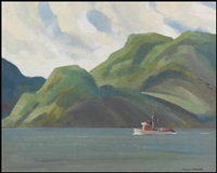 tug boat on the coast by ronald threlkeld jackson