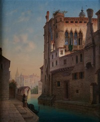 venetian scene by johann baptist kreitmayr