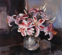 still life of lillies by ruth squibb