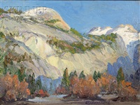 north dome, yosemite by arthur j. hammond