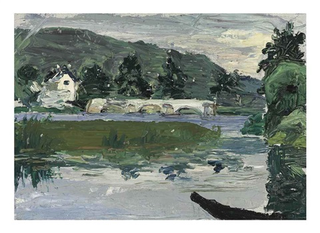 paysage avec pont by wassily kandinsky