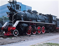 decorative locomotive by liu bolin