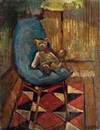 teddybär auf einem stuhl by eliezer alschech