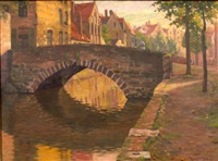 the stone bridge over the canal by robert tolman