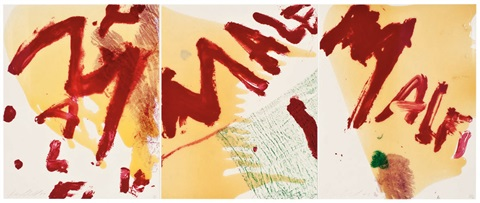 triptych 3 works by julian schnabel