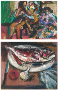 figures of imagination; & fish (2 works) by chang wan-chuan