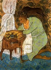 jeune femme dans son intérieur by ahmed hajeri